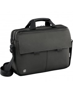 Wenger Route, 16 inch Laptop Messenger with Tablet Pocket, Black