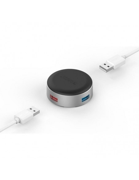 Stand/Cooler notebook Orico ANS1 4x USB Silver