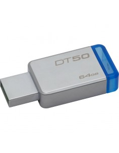 Memorie externa Kingston DataTraveler 50 64GB USB 3.0 (Metal/Blue)