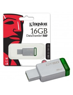 Memorie externa Kingston DataTraveler 50 16GB USB 3.0 (Metal/Green)