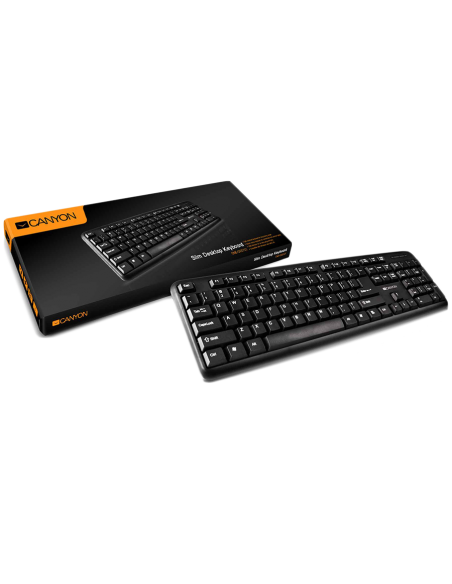 Tastatura Canyon CNE-CKEY01-US Black