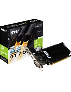 Placa video MSI GeForce GT 710 Silent 2GB DDR3 64-bit Low Profile