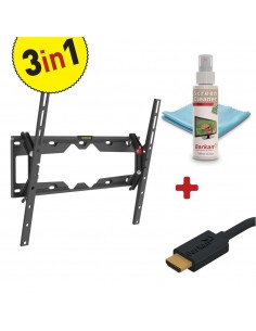 KIT Suport perete LCD/Plasma plat/curbat Barkan, Tilt + Screen Cleaner + HDMI Cable, Max. Weight:50 KG