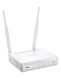 Wireless Access point D-Link DAP-2020, 802.11n/g/b wireless LAN, One 10/100BASE-TX Ethernet LAN port, Two 5 dBi gain detachable