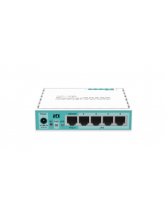 MIKROTIK 5-PORT GIGABIT ETHERNET ROUTER, RB750GR3, 5* 10/100/1000Ethernet ports, CPU nominal frequency: 880 MHz, 2* CPU core cou