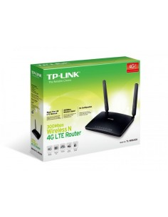 Router Wireless TP-Link TL-MR6400, 1xWAN 10/100, 3xLAN 10/100, 2 antene interme, 2 antene 4G/LTE externe detasabile, 2.4Ghz, 300