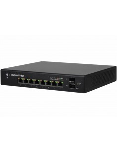 Ubiquiti EdgeSwitch 8 150W 24V,802.3af/at PoE, ES-8-150W, 8*Ethernet Basic switching RJ-45, Gigabit Ethernet (10/100/1000), Mana
