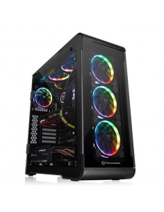Carcasa Thermaltake View 32 Black Tempered Glass RGB, fara sursa