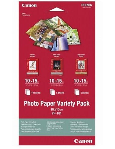 Canon Photo Paper Variety Pack 10x15cm VP-101 20coli