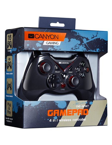 Gamepad Canyon CND-GPW7 PC, Xbox 360, PS3