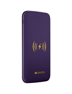 Baterie externa Canyon CNS-TPBW8P, 8000 mAh, 2x USB, 1x USB-C, 2A, Wireless Charging, Purple