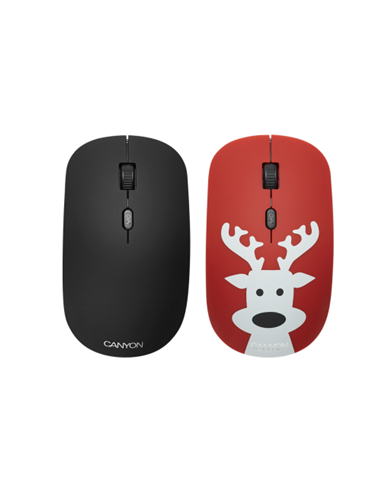 Mouse Optic Canyon CND-CMSW400DR, USB Wireless, Black