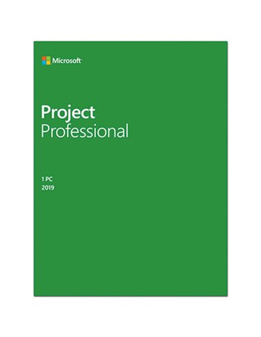 Aplicatie Microsoft Project Professional 2019, 32/64-bit, Engleza, Medialess Retail