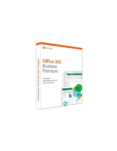 Aplicatie Microsoft Office 365 Business Premium 2019, Romana/Engleza, Subscriptie 1 An, Medialess Retail