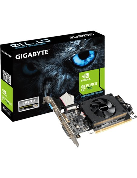 Placa video GIGABYTE GeForce GT 710 2GB DDR3 64-bit Low Profile HDMI