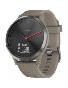 SmartWatch Garmin Vivomove HR Sport, negru, curea silicon Sandstone, One size