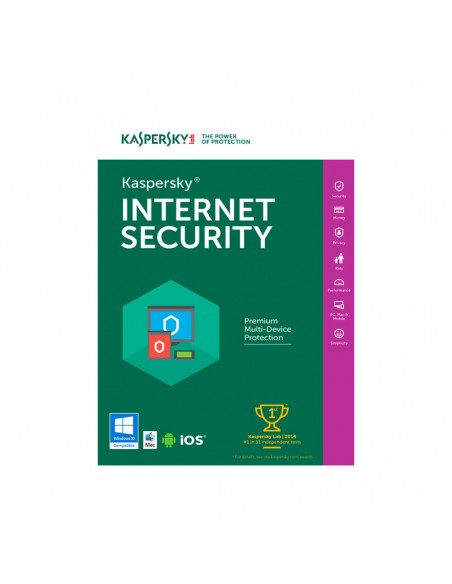 Antivirus Kaspersky Internet Security 2019, 1 Dispozitiv, 2 Ani, Licenta de reinnoire, Electronica