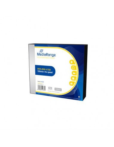 MediaRange DVD+RW 4,7GB 4x Slimcase Pack5