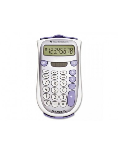 TEXAS INSTRUMENTS TI-1706 SV, 8-digit, giant SuperView display and dual power, change sign (+/-)
