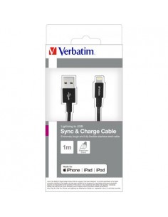 VERBATIM Lighting Cable Sync & Charge 100cm Black
