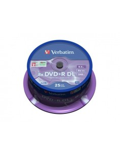Verbatim  DVD+R DOUBLE LAYER 8X 8.5GB MATT SILVER SURFACE
