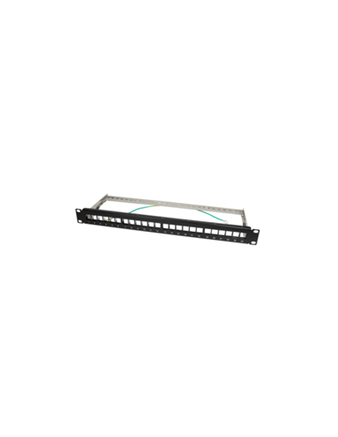 Patch Panel 24xKeystone, negru, Logilink NK4042