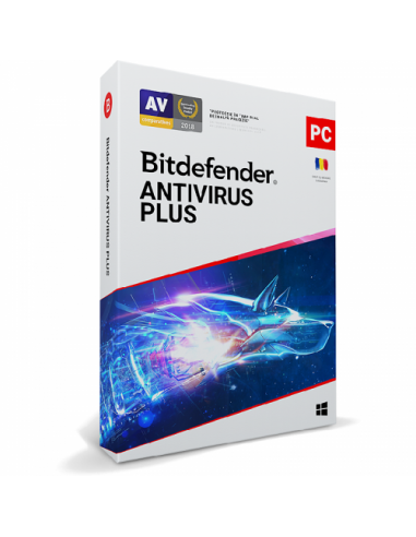 Bitdefender Antivirus Plus 2020, 10users/1year, Base Retail