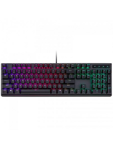 Tastatura mecanica gaming, RGB LED, Cherry MX Red, USB, neagra, Cooler Master MasterKeys MK750