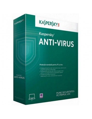 Antivirus Kaspersky Antivirus 2017, 1 PC, 1 an + 3 luni, Retail, Renew