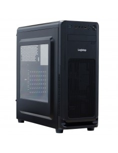 Carcasa PC Spacer Middle-Tower ATX SP-GC-02, fara sursa, M3D, side window, suporta 6* 120mm fan, I/O panel, neagra