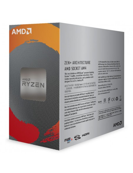 Procesor AMD Ryzen 3 3200G, 6MB, 4.0GHz, Radeon™ RX Vega 8 Graphics cu Wraith Stealth cooler