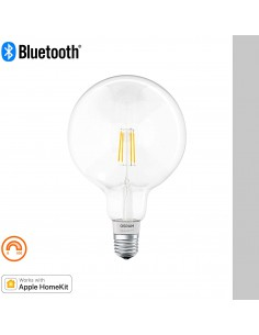 Bec LED Smart+ Filament Globe Osram E27, Bluetooth Lamp, dimmable, Replacement for 50W Light Bulb, alb cald