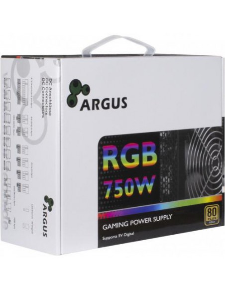 Sursa PC Inter-Tech Argus RGB-750W CM II, 750W, 80+ Gold, neagra