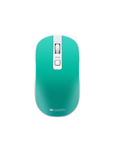 Mouse Optic Canyon CNS-CMSW18A, USB Wireless, verde