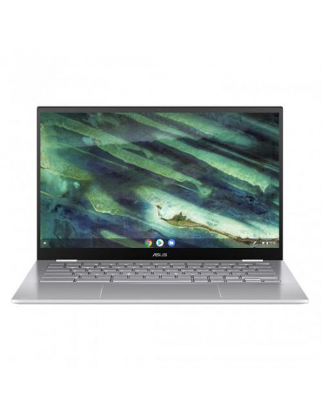 "Laptop 2-in-1 Asus ChromeBook Flip C436FA-E10274, IntelCore i3-10110U, 14""Touch,RAM8GB,SSD128GB, UHD Graphics 620, ChromeOS, alb"