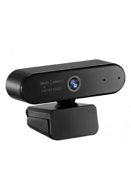 Camera web Qbe M8,Full HD, 3.7MP, Microfon, Prindere magnetica, Rotire, USB, neagra