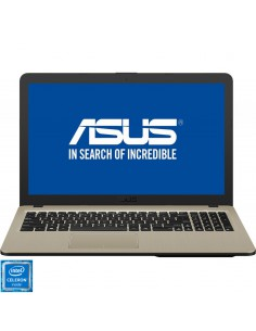 "Laptop Asus VivoBook 15 X540NA, 15.6"" HD, Intel Celeron N3350, RAM 4GB, HDD 500GB, GMA HD 500, No OS, negru-maro"