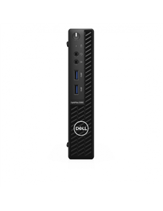 Desktop PC Dell OptiPlex 3080 MFF, Intel Core i3-10100T, RAM 8GB, SSD 256GB, Intel UHD Graphics 630, Windows 10 Pro, negru