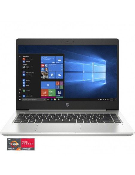 "Laptop HP ProBook 445 G7, AMD Ryzen 3 4300U, 14"" FHD, RAM 8GB, SSD 256GB, AMD Radeon Graphics, Windows 10 Pro, argintiu"