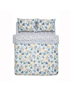 Set lenjerie de pat 2 persoane Heinner Home Lizzy, 4 piese, bumbac, multicolor