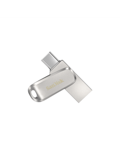 Stick memorie SanDisk Ultra Luxe Dual Drive 32GB, USB-C/USB 3.1, Silver