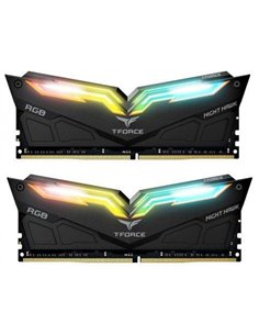 Kit Memorie TeamGroup T-Force Night Hawk Black RGB 16GB, DDR4-3200MHz, CL16, Dual Channel