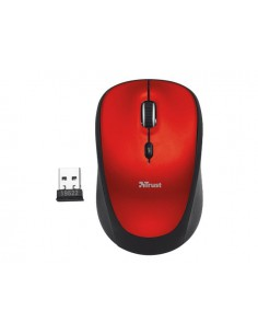Mouse Optic Trust Yvi, USB Wireless, Red