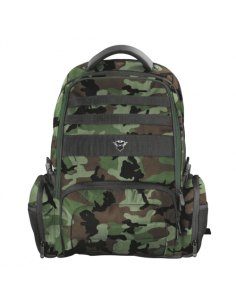 """Rucsac Trust GXT 1250G Hunter Gaming Backpack for 17.3"""" laptop - green camo"""
