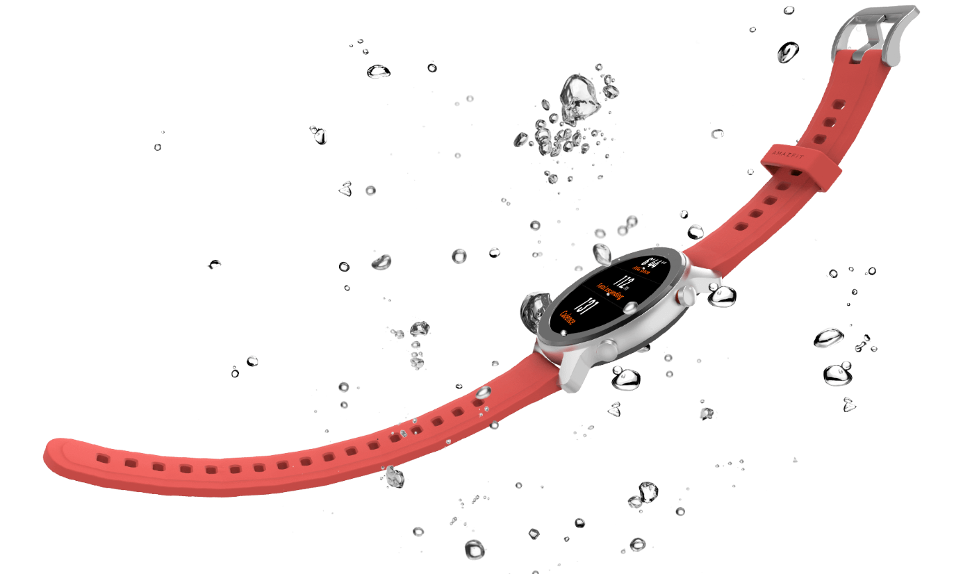 Xiaomi Amazfit GTR Silver Coral red