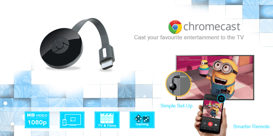 Google Chrome-cast transforma tv in SmartTv